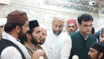 असदुद्दीन ओवैसी का नारसन बॉर्डर पर हुआ गर्मजोशी से स्वागत,साबिर की दरगाह में दी हाजिरी